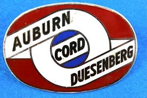Antique Vintage Auburn Cord Duesenberg Badge Emblem Bumper License Plate Topper