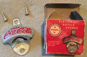 Coca-Cola wall mounted bottle opener Starr X pat. 2333088