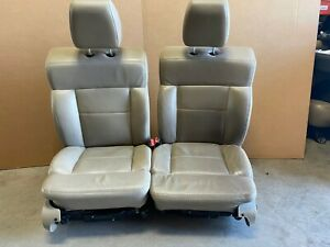2006 Ford F150 Lariat Front Leather Bucket Seats W Power And Heat