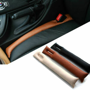 2x Universal Car Sport Seat Hand Brake Gap Filler Pad Leather Decoration Gift Lm