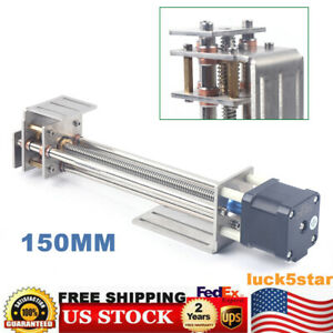 150mm Diy 3 Axis Cnc Z Axis Slide Linear Motion 4 wire Stepper Motor a4988 Top
