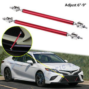 Adjustable 6 9 Bumper Racing Bars Strut Diffuser Support Rod For Toyota Camry