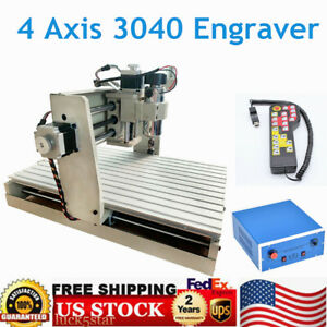 400w Usb 4 Axis Cnc 3040 Router Engraver 3d Pcb Engraving Drilling Machine Rc