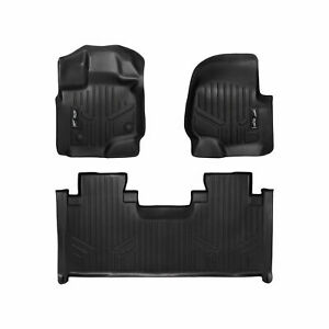 Maxliner Custom 1st 2nd Row Floor Mats Set Black For 2015 19 Ford F150 Super