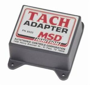 Tach Adapter Msd Ignition 8920