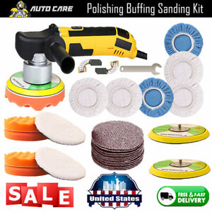 Dual Action Car Polisher Buffer Sander Orbital Polishing Machine 6 Buffing Pads