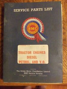 British Motor Corporation 1968 Tractor Engines Diesel Petrol And V o