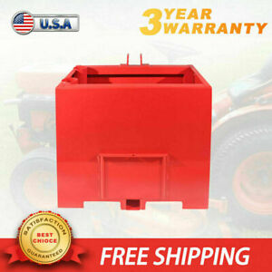 3 Point Ballast Box Mounted Tractor Loader Counterweight Quick Tach Attachment