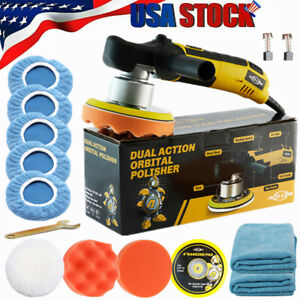 6 Dual Action Car Polisher D A Buffer Sander Orbital Polishing Machine Bonnets