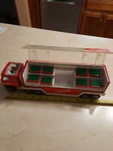 Vintage Buddy L Coca-Cola Semi Truck with Cases & Bottles (Unrestored)