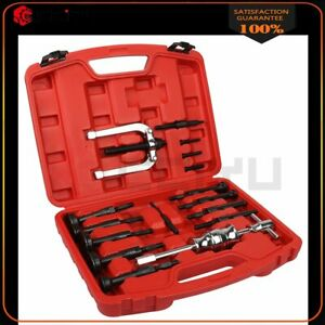 16pcs Bush Bearing Blind Hole Remover Extractor Puller Set Pilot W Slide Hammer