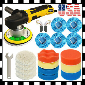 Random Orbital Car Polisher Dual Action 6 Buffer Sander Wax Kit Variable Speed