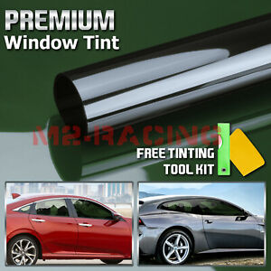 20 X10ft Uncut Roll Window Non Reflective Green Smoke Tint Film Car Home Office