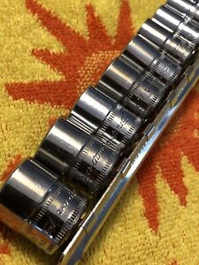 Snap On 1 4 Dr Shallow 6 Point Metric Socket Set 13 Piece 4 15mm
