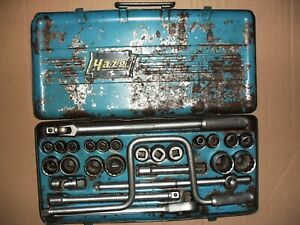 Hazet Ratchet Socket Set Vintage Set 1 2 Square 900z Metric Made In Germany