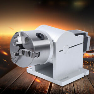 Rotary Axis Used In Laser Marking Machine Chuck 80mm Engraver Rotating Fixture