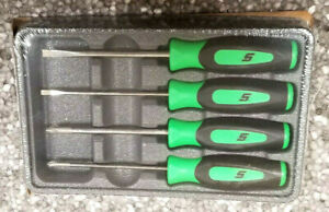New Snap On Green Instinct Handle Mini Screwdriver Set Sgdx40bpm Awesome