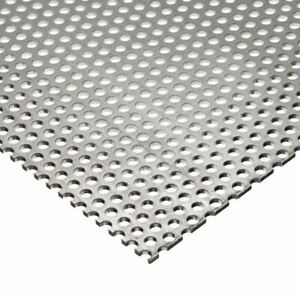 Stainless Steel Perforated Sheet 0 035 X 6 X 12 1 8 Holes