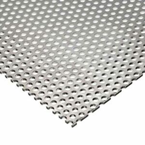 Stainless Steel Perforated Sheet 0 035 X 10 X 12 1 8 Holes