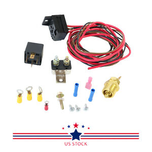 Electric Engine Fan Thermostat Temperature Switch Relay Kit 3 8 265 400
