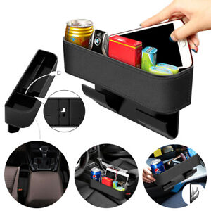 Car Seat Gap Filler Organizer Pu Leather Storage Box With Cup Cell Phone Holder