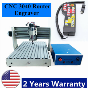 4 Axis Cnc 3040 Router Engraver 3d Milling Wood Engraving Machine handwheel Top