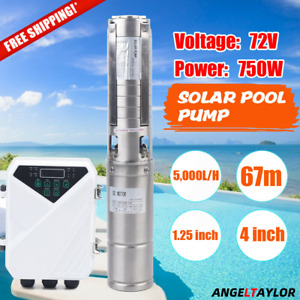 Solar Water Pump Submersible Mppt Controller Kit Deep Bore Well 4 Dc 72v 750w