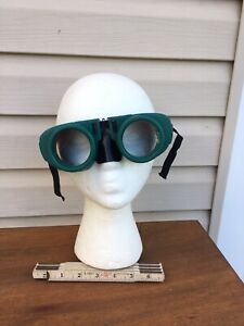 Vintage Glasses Goggles Welding Safety Goggles Motorcycle Aviator Glass Lens
