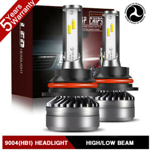 9004 Hb1 Hi lo Led Headlight Bulbs Kit For Dodge Ram 1500 2500 3500 1994 2001