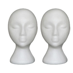 2pcs Foam Mannequin Head Stand Practical Durable Scarf Display Model For Store
