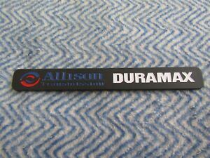 Chevrolet Gmc Diesel Allison Duramax Black W Blue Red Body Emblem New 33