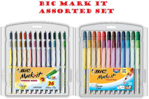 Bic Mark it Permanent Markers Fine Point And Ultra Fine Point Assorted Color