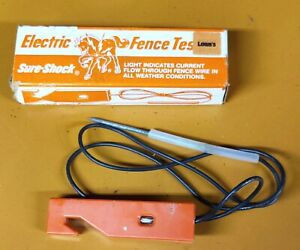 Vintage Fi shock Electric Fence Tester A 6 Sure Shock In Box Nice