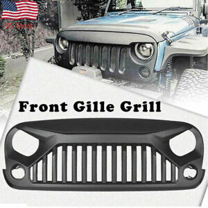 For 2007 2018 Jeep Wrangler Jk Front Bumper Grille Grill Angry Bird Black