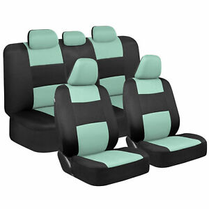 Cute Mint Car Seat Covers For Women Full Set Combo Front Rear Bench Seats