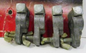 4 Pack Heavy Duty Lead Battery Terminals Top Stud To 5 16 Marine Nos Usa