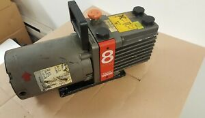 Edwards 2 Stage Vacuum Pump E2m8 W franklin Electric 3 4hp Motor 1301007144