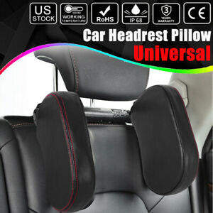 Car Seat Headrest Pillow Head Support Rest Nap Sleep Side Cushion For Kids Adult