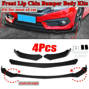 Universal Car Front Bumper Lip Spoiler Chin Splitter Protector For Honda Bmw Vw