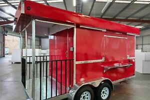 Brand New 2020 8 X 16 Food Concession Trailer W Porch For Sale In Oklahoma