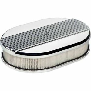 Billet Specialties 15630 Air Cleaner Small Oval Ribbed Polished New
