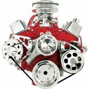Billet Specialties Fm2122pc Serpentine Conversion For Chevy Small Block New