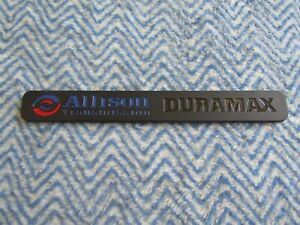 Chevrolet Gmc Allison Transmissions Duramax Black Red Blue Emblem Nameplate 11