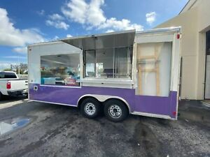 Mobile Ice Cream Business 2 Rolled Ice Cream Concession Trailers For Sale In F