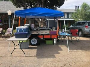 2020 5 X 8 Street Food Vending Concession Cart With All Commercial Equipment
