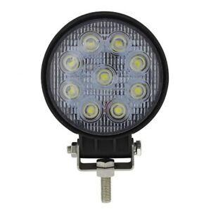 4 5 Round 9 High Power 3 Watt Led Work Light 1700 Lumen 12v 30v Dc Voltage