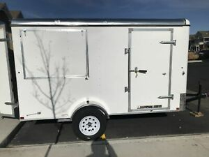 Fresh 2019 6 X 12 Interstate Patriot Never Used Shaved Ice Concession Trailer