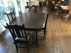 Dining Table 6 Chairs Antique