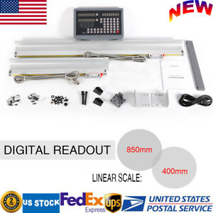2 Axis Dro Precision Digital Readout Linear Scale Kit For Lathe Milling Machine