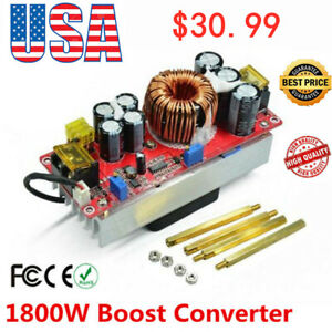 1800w Dc dc Boost Converter 10 60v To 12 90v 22a Step up Power Supply Module